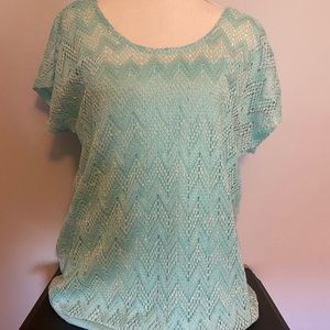 Maurices mint colored blouse XL